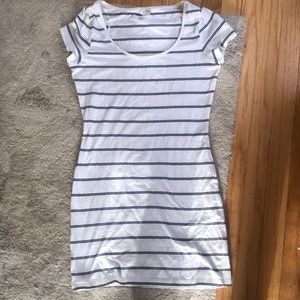H & M Striped short sleeved dress